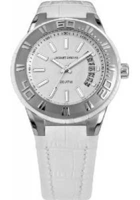 Jacques Lemans Miami Women White Leather Strap