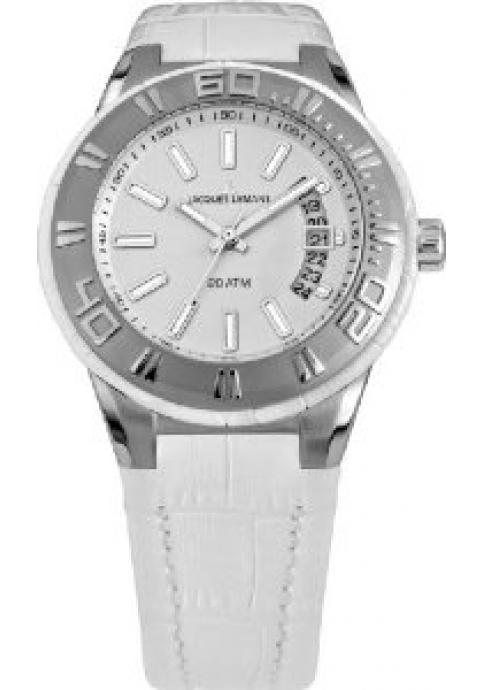 Jacques Lemans Miami Women White Leather Strap