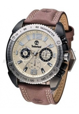 TIMBERLAND Bennigton Multifunction Brown Leather Strap