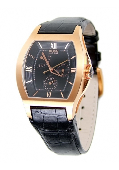 Hugo Boss Black-RoseGold Calendar Watch