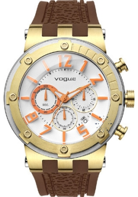 VOGUE Feeling Brown Rubber Chronograph