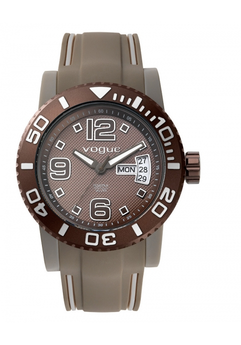 Vogue Attitude Brown Rubber Strap