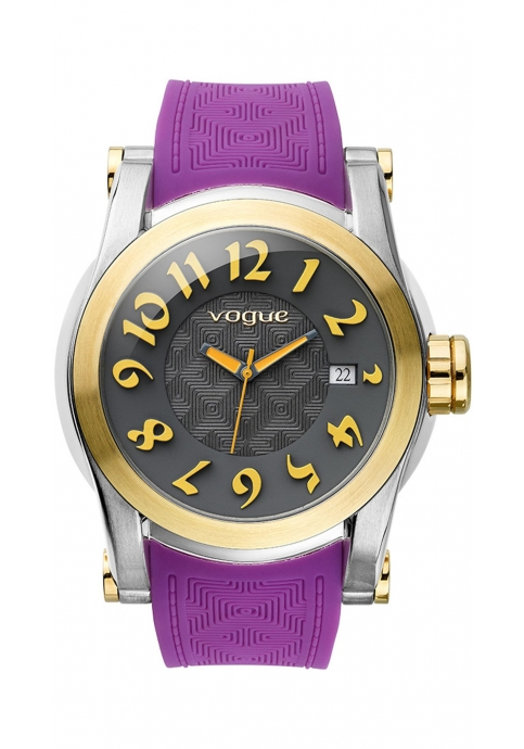 VOGUE Joy Purple Rubber Strap