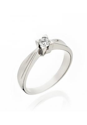 Δαχτυλίδι 14 Καράτια Λευκόχρυσο με Ζιργκον