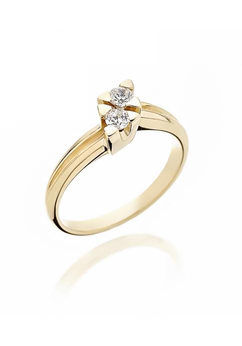 Δαχτυλίδι 14Κ Χρυσο με Ζιργκον