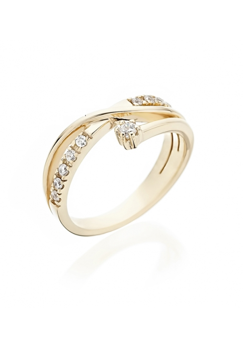 Δαχτυλίδι 14 Καράτια Xρυσό με Ζιργκόν