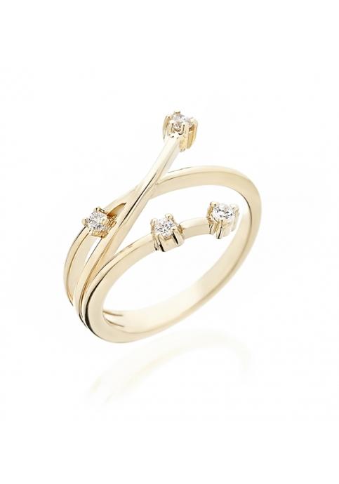 Δαχτυλίδι 14 Καράτια Χρυσό με Ζιργκόν