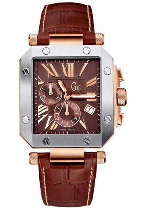 Guess Collection Chrono Brown Leather Strap