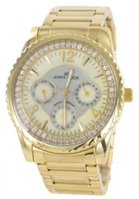 Anne Klein Gold Crystal Watch