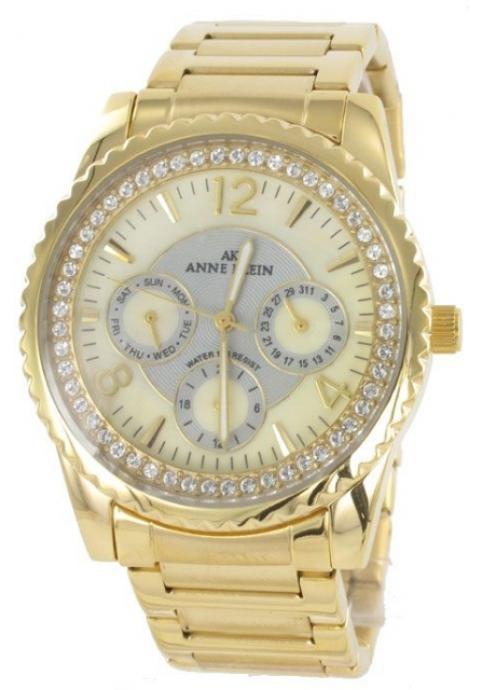 Anne Klein Gold Crystal Watch