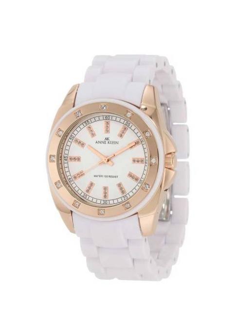 Anne Klein Women's  White Ceramic Quartz Watch