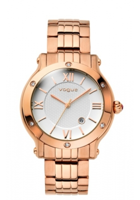 Vogue Grace Crystal Rose Gold Stainless Steel Bracelet