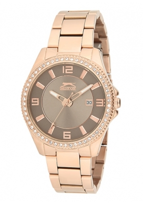 SLAZENGER Style & Pure Rose Gold Stainless Steel Bracelet