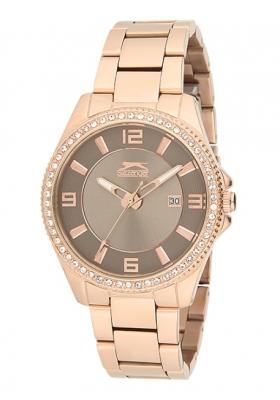 SLAZENGER Style & Pure Rose Gold Stainless Steel Bracelet