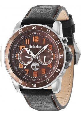 TIMBERLAND Bellamy Multifunction Black Leather Strap