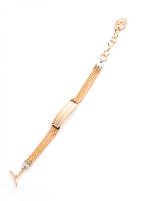 Rebecca Ladies Bracelet Gold Color από ανοξείδωτο ατσάλι