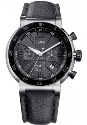 Hugo Boss Men Watch Chronograph Black