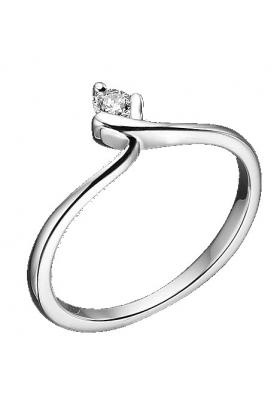 Δαχτυλίδι 18Κ Λευκόχρυσο με Mπριγιάν