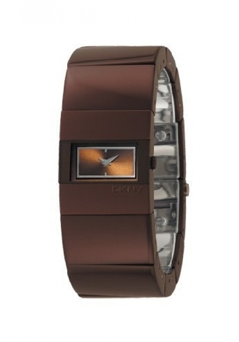 DKNY Brown Rectangular Dial