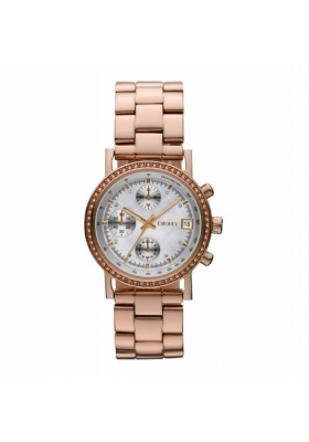 DKNY Rose Gold Stainless Steel Chronograph