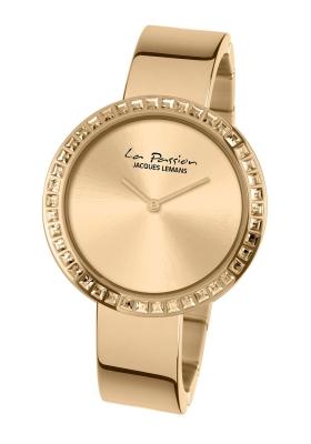 Ρολόι Jacques Lemans La Passion με χρυσό μπρασελε και ζιργκόν