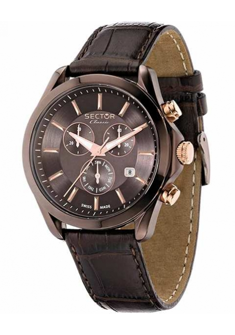 SECTOR CLASSIC Chronograph Brown Leather Strap