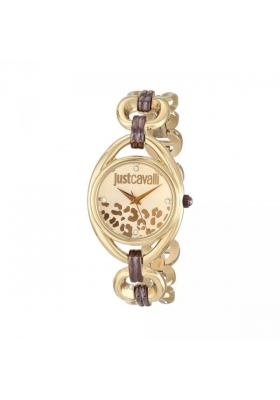 JUST CAVALLI Crystals Gold Stainless Steel Bracelet