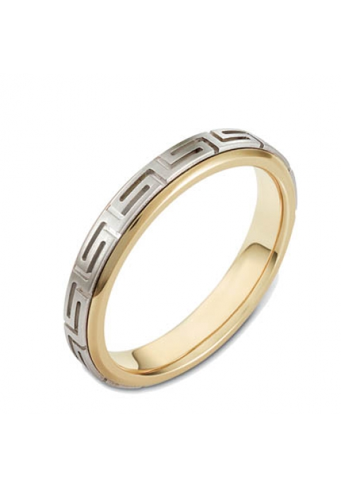 Wedding ring from 14K Gold and White Gold