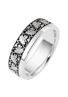 Handmade Wedding ring from 14K White Gold