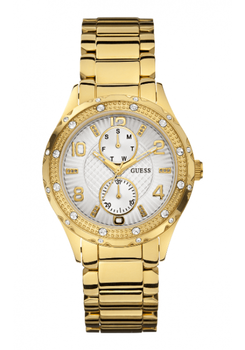 GUESS Multifunction Crystal Gold Stainless Steel Bracelet