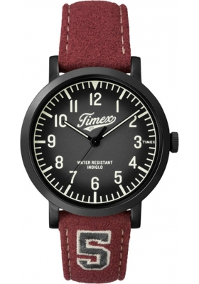 TIMEX Originals Red Leather Strap