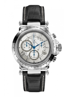 Guess Collection Chronograph Black Leather Strap