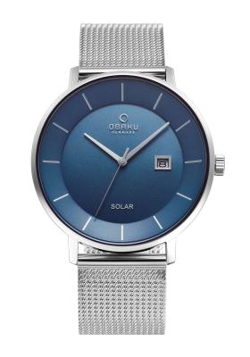 Obaku Nordlys V222GRCLMC Solar Silver Stainless Steel Bracelet