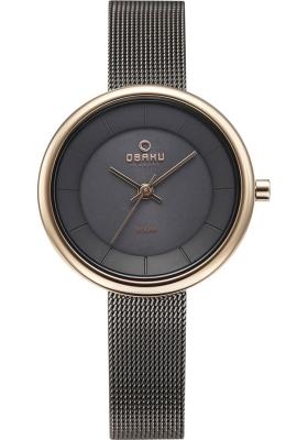 OBAKU DENMARK Solar Grey Stainless Steel Bracelet V206LRVJMJ