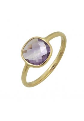 Δαχτυλίδι 14 Καράτια Χρυσο με Σμαράγδι